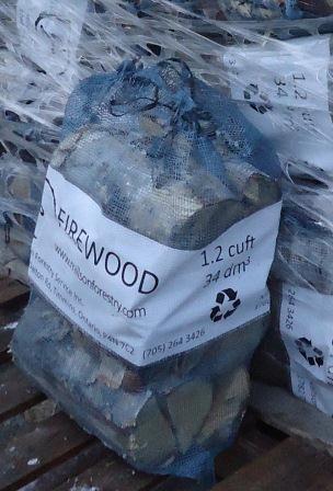 Dry birch firewood